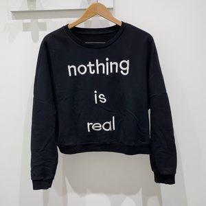 Tops - nothing is real black sweater